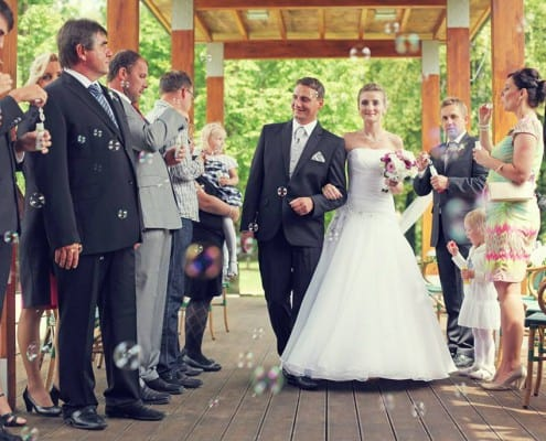 svatební bublifuk šampaňské
