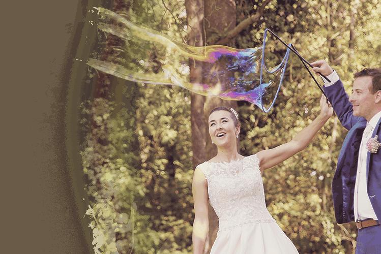 svatební bubliny